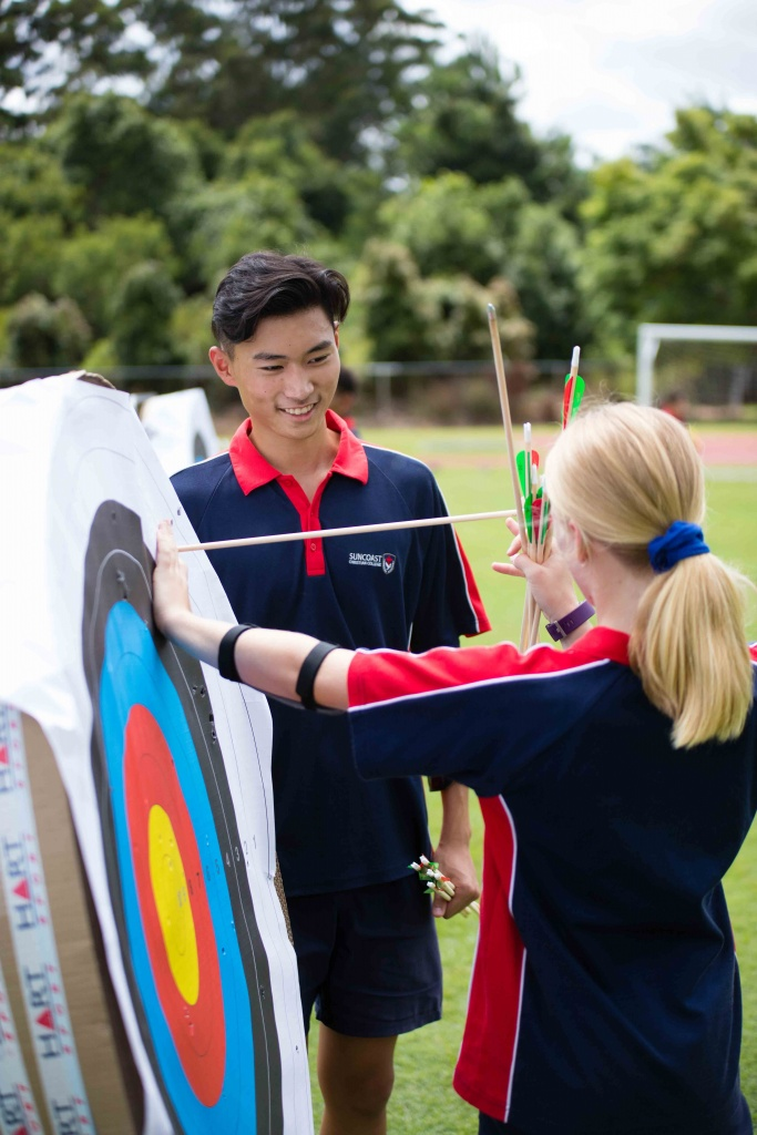 Health and Physical Education Week - Archery Students