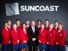 Suncoast Christian College Student Leaders with Principal Greg Mattiske at Suncoast Church