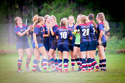 Suncoast Christian College Football Senior Girls SCISSA champions